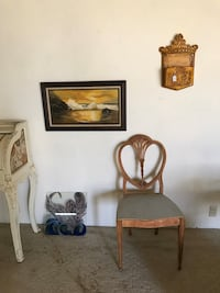 Old chair and wall art