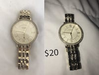 Gold Fossil Watch - Womens