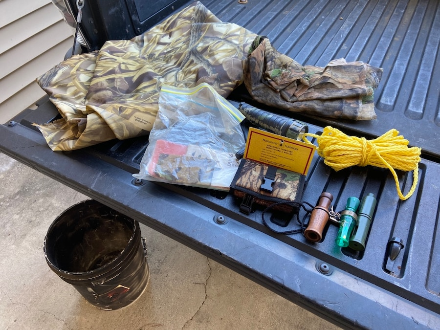 Photo Lot of Duck Hunting Supplies