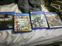 Four assorted PS4 game cases Washington, 20011
