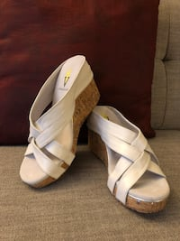 "Women's slip-on leather Sandals ""Volatile"" Size 7.5-8  New without box"