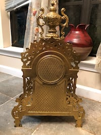Pre-1940s Authentic Italian Brass Clock with Its Key - Flawlessly Works Prattville, 36067