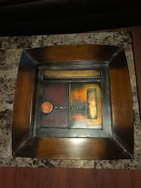 """Metal wall art. Note scratch on one. Approx 18"""" square and 2.5"""" deep Surrey, V3V 7L9"""