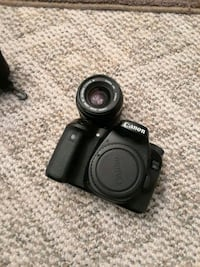 black Canon EOS DSLR camera Rockville