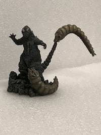 GODZILLA:  X-PLUS Godzilla battling Mothra Larvae figure, based on 1964 classic New York, 10038