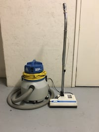 white and blue canister vacuum cleaner Toronto, M9W 6J6