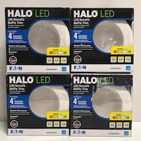 New Set of 4 Halo RL 4 inch LED Recessed Ceiling Light Fixtures Highland, 92346