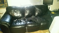black leather 3-seat sofa Regina, S4T 1Z2