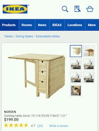 IKEA Norden Table Toronto, M8V 0C4