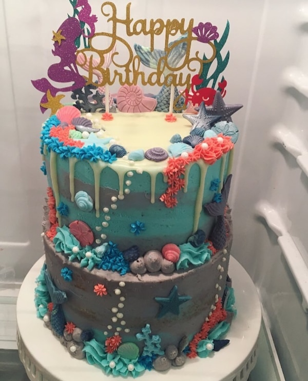 Super Mermaid Birthday Cake Topper Decorations In Tempe Letgo Funny Birthday Cards Online Fluifree Goldxyz