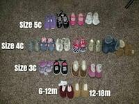 Toddler and infant girl shoes