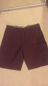 Burgundy shorts, size 32, fits bigger