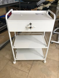 Brand new White 3 shelves drawer cart trolley with lamp holder 多伦多, M5T 1L4