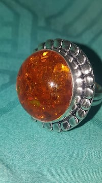 Amber crystal ring  Yuma