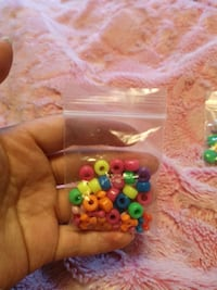 Neon Beads for Childrens Bracelets/Necklaces 545 km
