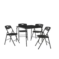 5 piece folding table and chair