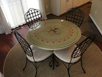 round black metal table with four chairs patio set Fairfax, 22033