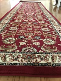 new Traditional Design Hallway Runner Carpet Size 3x10 Nice Red Rug Burke, 22015