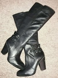 Black leather boots size 8 1/2 Roswell, 30076
