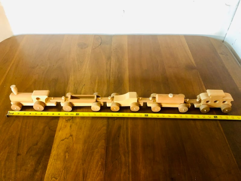 Vintage Handcrafted Wooden Toy Train Set (1970's), Only 2 Sets Left!  f5ea0acd-c9f9-4faa-806c-7e4a13a04138
