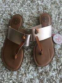 pair of brown leather thong sandals Saskatoon, S7J 2V2