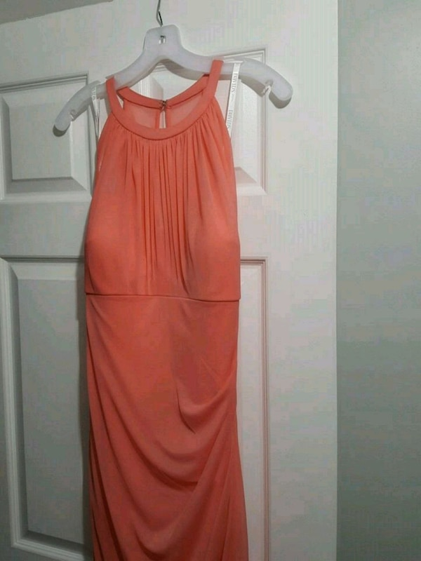 Bridesmaid dress coral reef