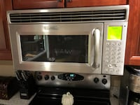 stainless steel and black microwave oven 257 mi
