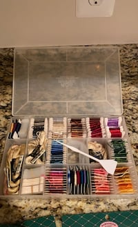 Cross stitch kit. Complete set for cross stitching.Everything included Chantilly, 20152