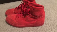 pair of red Nike Air Force 1 high Washington, 20011