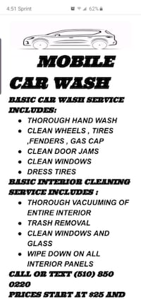 Mobile car wash Stockton