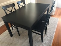 Brown black dining room set  41 km
