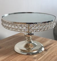 Silver Crystal Cake Stands - AVAILABLE FOR RENT Toronto, M1B 5J4