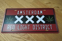 Tin sign - license plate size NEW