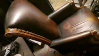 Oak and leather office chair 1181 mi