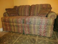 brown and green floral 3-seat sofa Baltimore, 21215