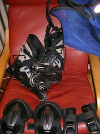 RollerBlades,  Safety Gear, and Travel Tote Washington