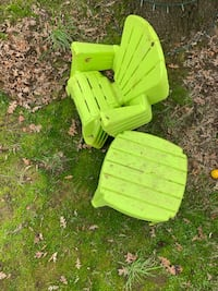 Outdoor chairs and table for kids