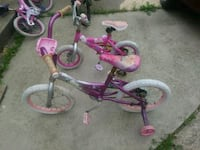 toddler's purple and pink bicycle with training wheels Dearborn, 48126