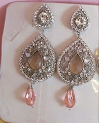 silver-colored and diamond studded earrings London, N6L 0B2