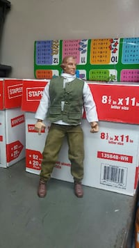 man with green jacket and green pants action figur