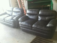 2 leather loveseat.  Delivery is extra  Edmonton, T6N 1C6