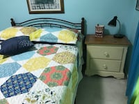 Dresser,mirror and nightstand $325;  bed, mattress and box spring $200   Sold separately or together. Plano, 75093