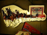 Vintage Budweiser with Clydesdale wall light Millbrook