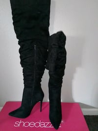 Black Thigh High Boots Size 9 Nellis Air Force Base