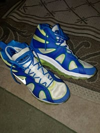pair of blue-and-white Nike basketball shoes Troutdale, 97060