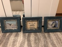 Teal photo frames. Fits 5x7. Photos not included   Toronto, M3A 2H1