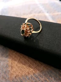 Heavy gold plated and emerald stones