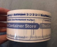 Thick roll of Container Store packaging tape for moving Sterling, 20164