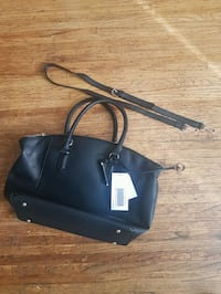 Brandnew black leather 2-way bag from justfab Vancouver, V5S 2L6