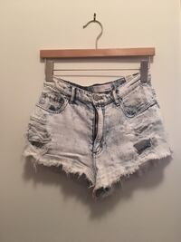 High waisted ripped denim shorts  Richmond Hill